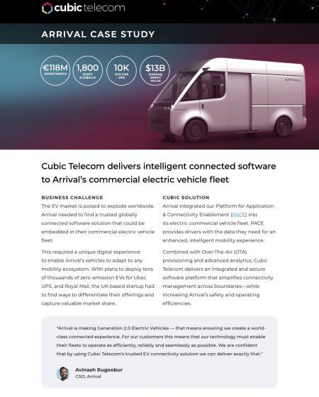 Cubic Telecom Case Study-Arrival