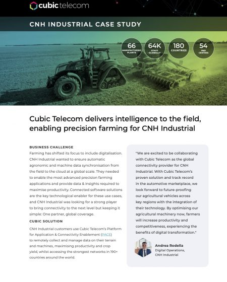 Cubic Telecom Case Study-CNHi