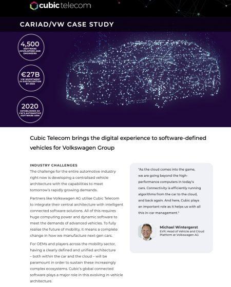 Cubic Telecom Case Study-Cariad