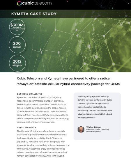 Cubic Telecom Case Study-Kymeta