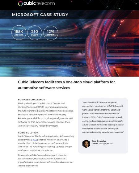 Cubic Telecom Case Study-Microsoft