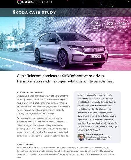 Cubic Telecom Case Study-Skoda
