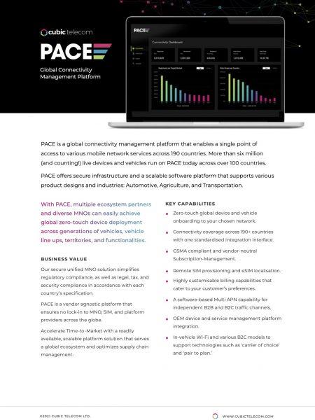 Cubic Telecom PACE Brochure 2021-1