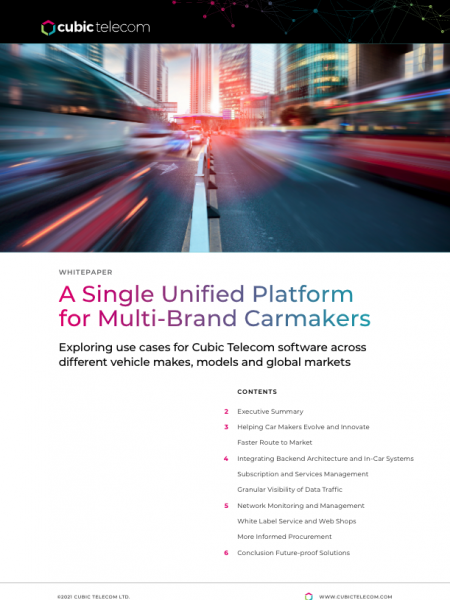 A Single Unified Platform for Multi-Brand Carmakers